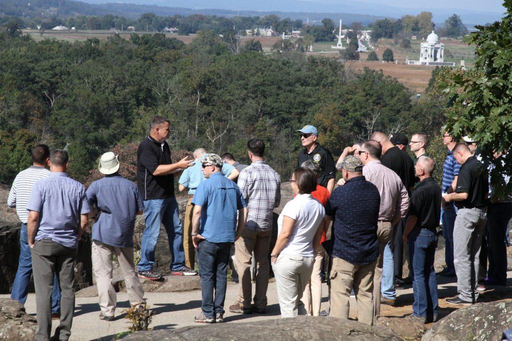 John Fenzel Experiential Leadership Learning Gettysburg Battlefield Tour
